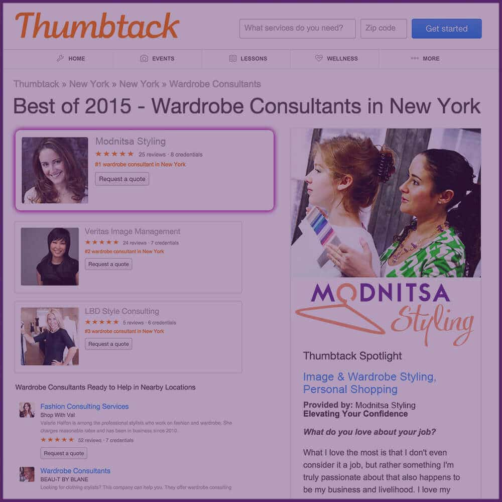 Best Wardrobe Consultant of 2015 in NYC by Thumbtack