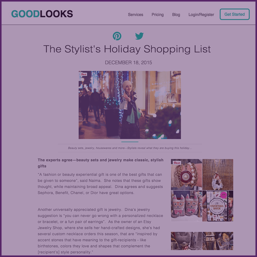 The Stylist's Holiday Shopping List Goodlooks.me Feature Article