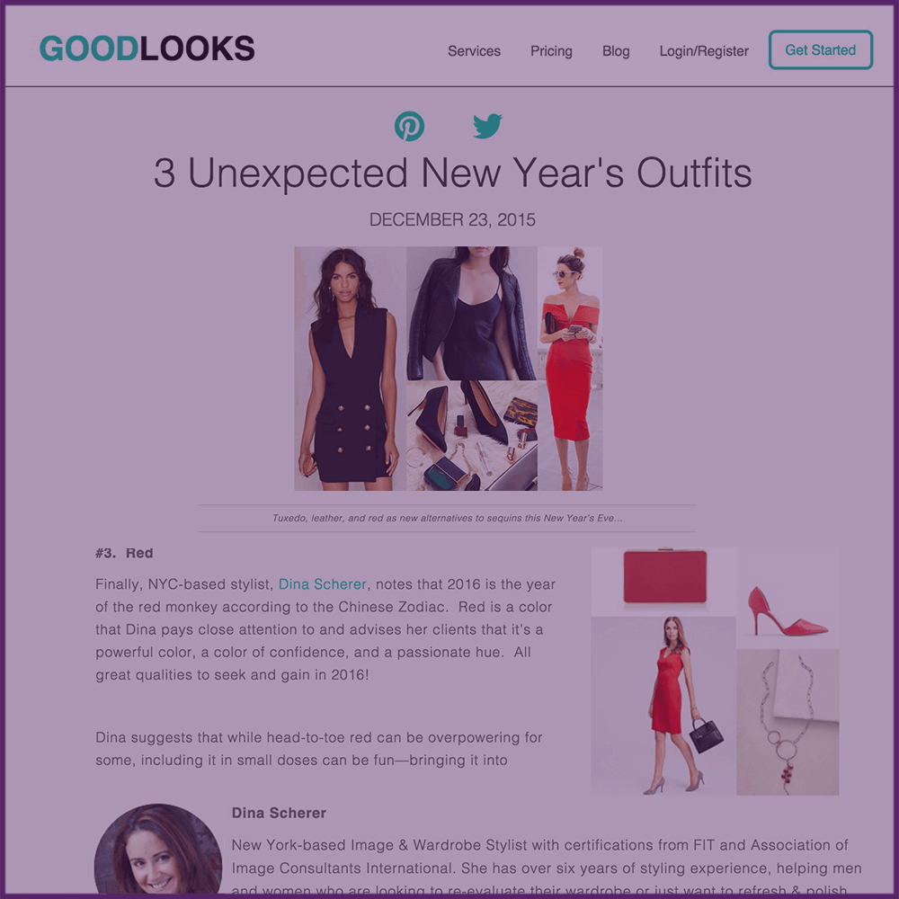 3 Unexpected New Year's Eve Outfits Goodlooks.me Feature Article