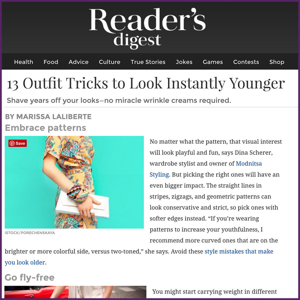 Readers Digest 13 Outfit Tricks to Look Instantly Younger Article January 13 2017