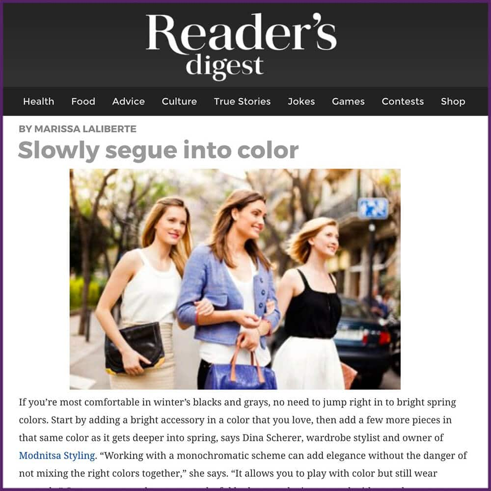 Readers Digest 11 Ways to Transition Your Winter Wardrobe to Spring Article February 21 2017