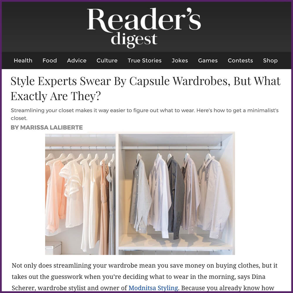 Readers Digest Streamlining Your Capsule Wardrobe Article February 22 2017