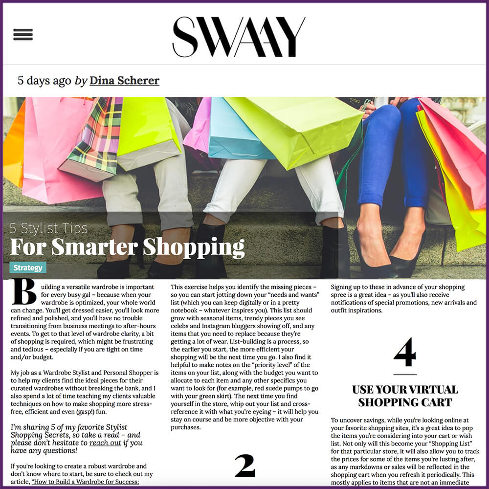 SwaayMedia Article 5 Stylist Tips For Smarter Shopping March 1 2017