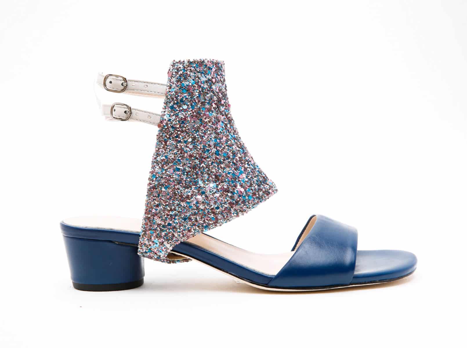 alterre bianca pixel glitter evening sky sandal
