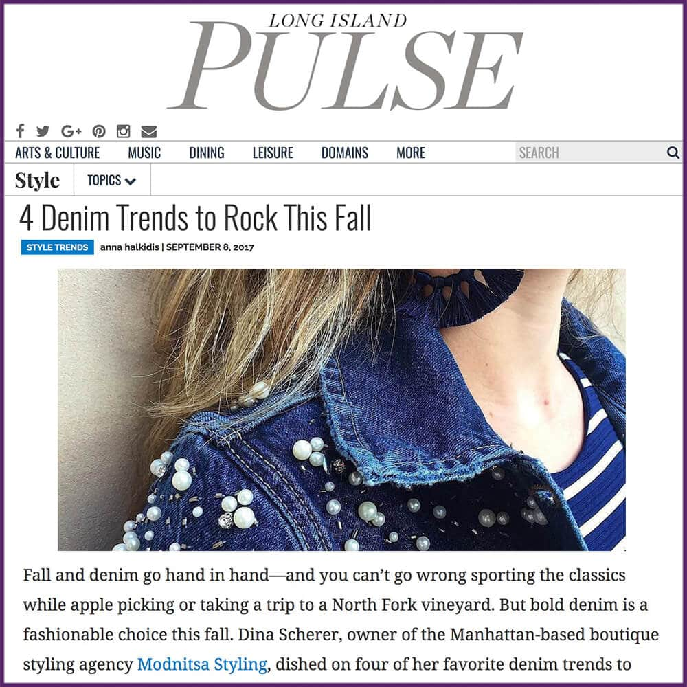 Long Island Pulse 4 Denim Trends To Rock This Fall Article September 8 2017