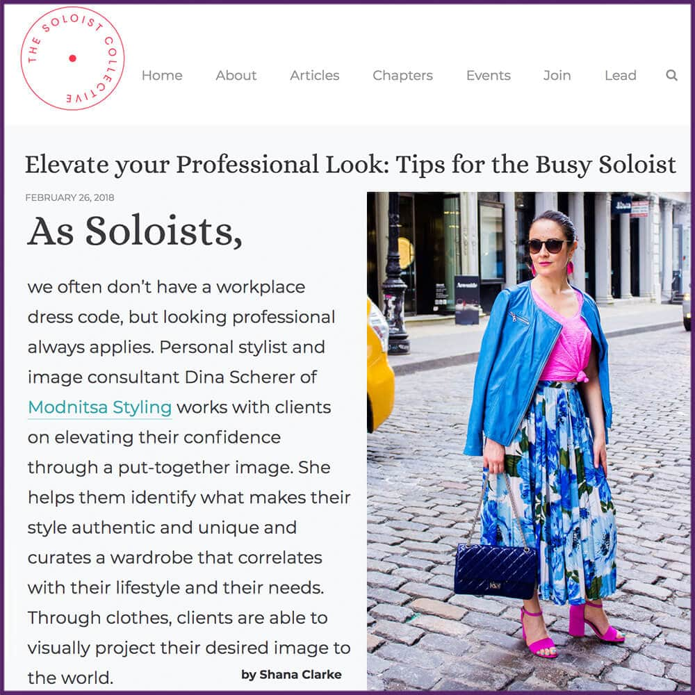 ​Elevate your Professional Look: Tips for the Busy Soloist Feature February 26 2018