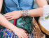 Anthro Pleated Skirt Denim Top Alice & Olivia Jacket by Modnitsa Styling
