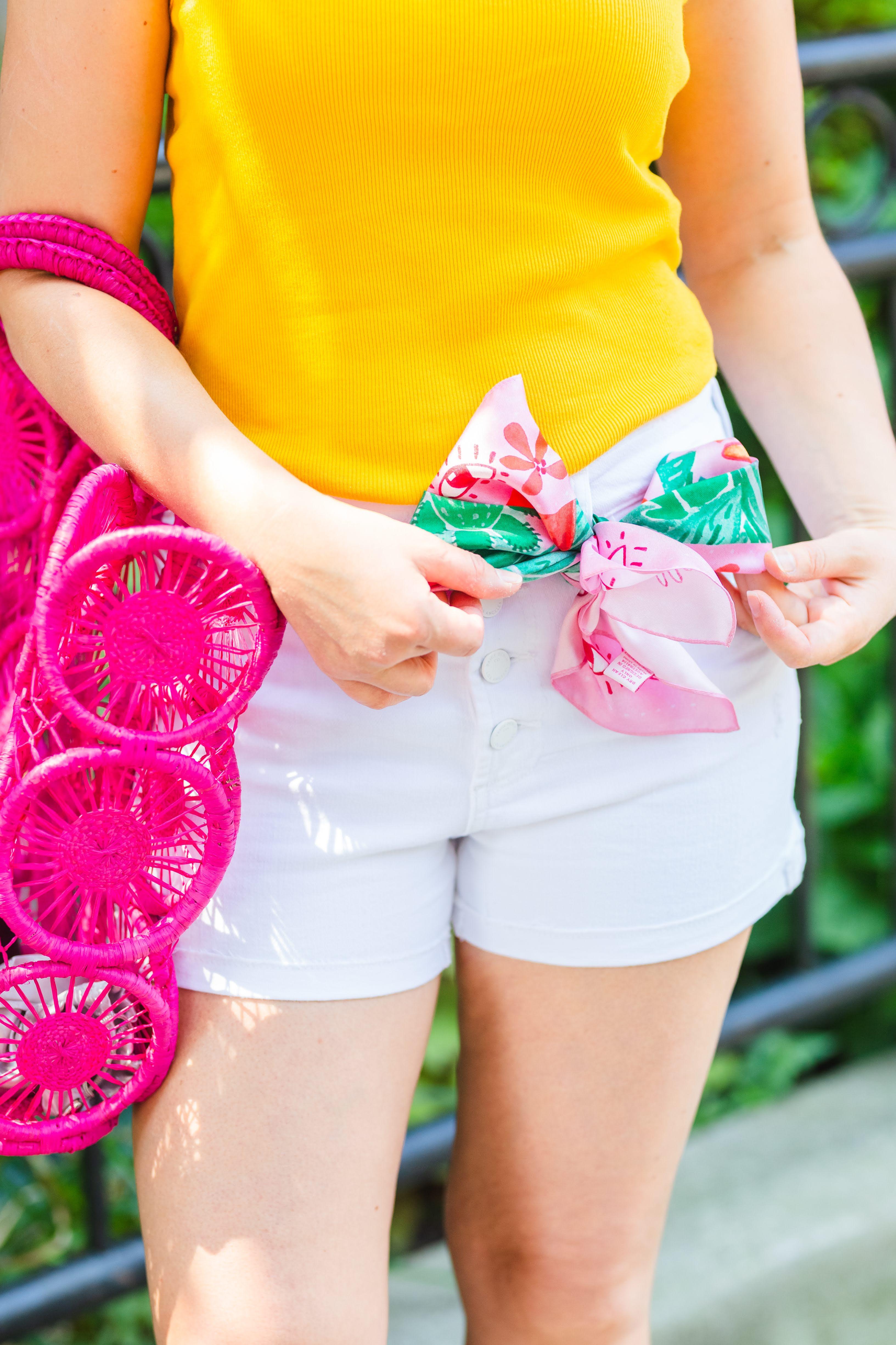 White Denim Shorts for Summer by Modnitsa Styling