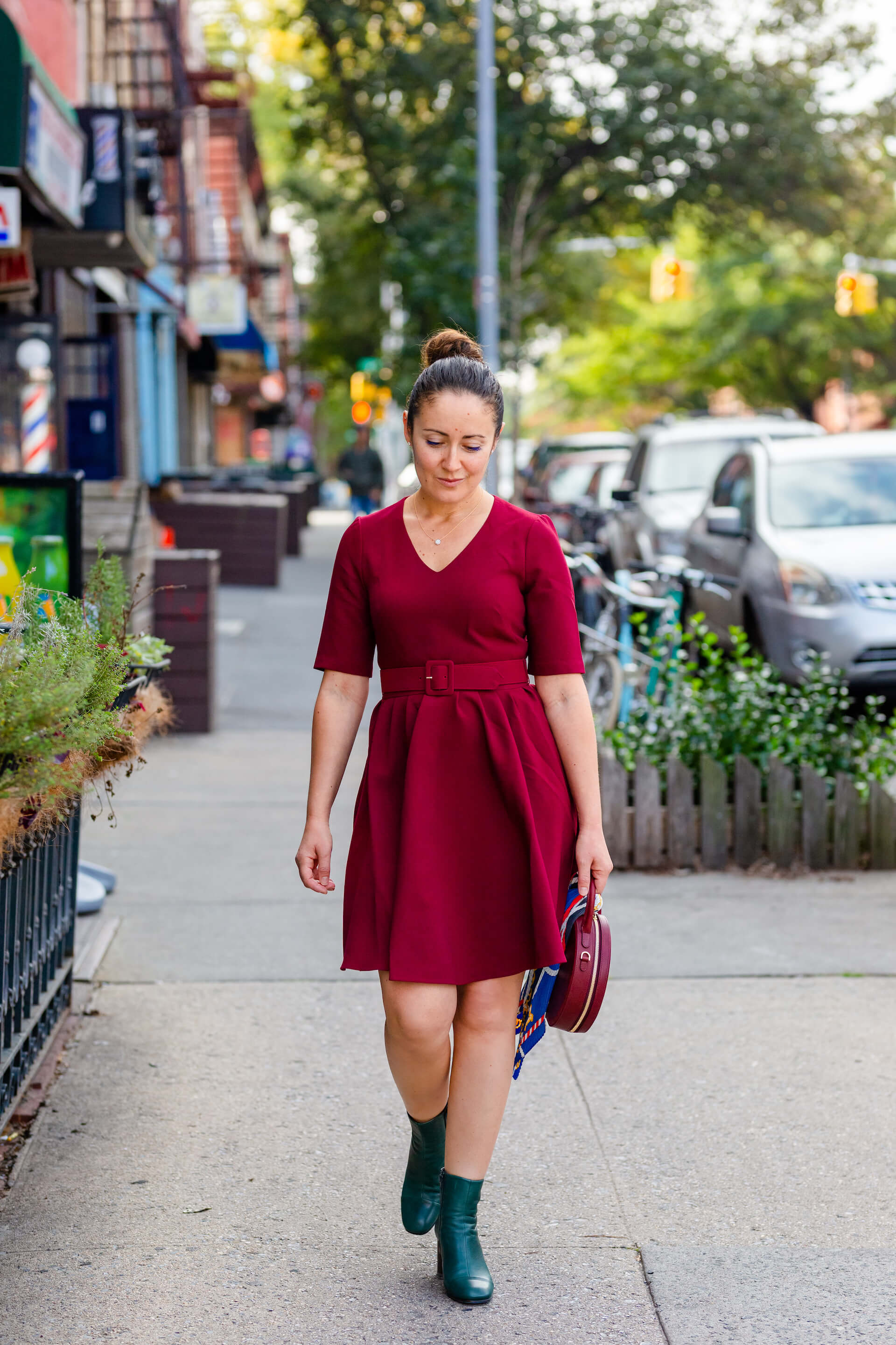 GMG Fall Dress Mansur Gavriel Bag Coclico Booties Fall Look